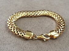 LIRM mesh Italian Sterling Silver with gold plating. length is 8 inches