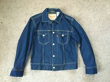 MEN'S LEVI STRAUSS AND CO Blue JEAN JACKET BUTTON FRONT SIZE LARGE SS6