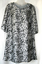 MARKS & SPENCER (UK10 / EU38) GREY MIX LOOSE FITTING 3/4 SLEEVE DRESS/TUNC - NEW