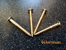 Set of 4 x 45mm gold plated neck mounting screws