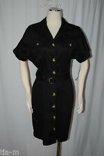 AA STUDIO CLASSIC STRETCH BLACK SHIRT DRESS FOR OFFICE /CASUAL WOMEN SZ 10 NWT