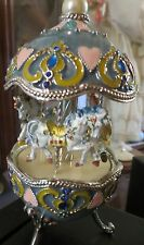 FLASH SALE!! RUSSIAN LOOK FABERGE CAROUSEL MUSIC BOX  KOPAL EUROPE USA SELLER