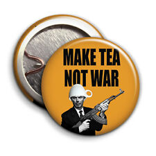 Make Tea Not War - Button Badge - 25mm 1 inch - Tony Blair Parody