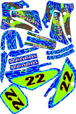 2002-2005 Yamaha YZ125 250 YZ Graphics Decal dirt bike Shrouds Plates snake skin