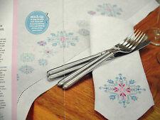 Celebrar un elegante Copo de Nieve Navidad Juego De Mesa De Comedor Cuadro De Punto De Cruz