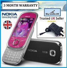 New Condition Nokia 7230 Pink GSM CLASSIC Unlocked 3G three Slide mobile phone
