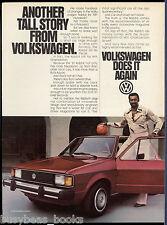 1981 VOLKSWAGEN RABBIT advertisement, VW Rabbit basketball star Wilt Chamberlain