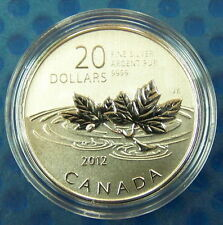 Canada 2012 $20 Farewell to the Penny--Pure .9999 Silver Coin