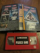 Force One de Ernest Tidyman, VHS Carrère, Action/Karaté, RARE!!