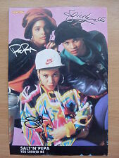 SALT 'N' PEPA - You Showed Me - Lyric Card + Autographs
