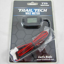 Trail Tech TTO Volt Meter Digital Gauge Black Voltage Front Button 742-V00-BL