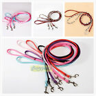 New 11 Colors Dog Cat Leash Lead Leather Walking Soft Chic Firm Comfortable