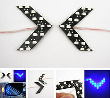 2Pcs Blue Arrow Indicator 14SMD LED Car Side Mirror Turn Signal Lights For Honda