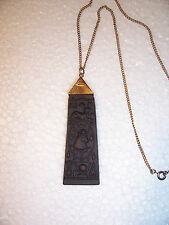 Wedgwood Black jasperware  Pendant in excellent condition .