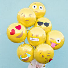 Solid COLOUR Round Smile Shape Wedding Birthday Party Helium Foil Balloons