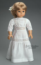 "Edwardian Victorian White Dress Gown for 18"" American Girl Samantha Doll Clothes"