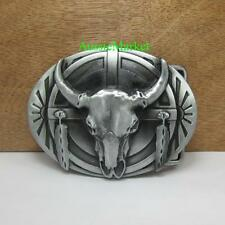 1 x mens belt buckle quality metal alloy bull jeans farmer farm cowboy biker new