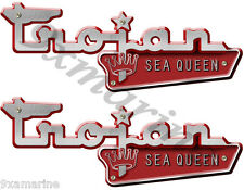 Trojan Vintage Sea Queen Boat Name Plates-Remasterd Decal