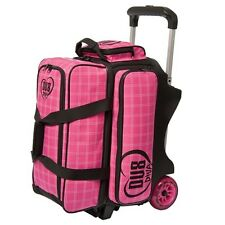 DV8 DIVA 2 Ball Deluxe Roller Bowling Bag with Urethane Wheels Pink