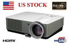 4000 Lumens Home Theater Multimedia USB HDMI 1080P Full HD LCD LED Projector