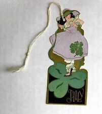 Vintage Bridge Tally Irish Girl Clover St Patricks Day
