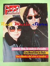 rivista CIAO 2001 4/1984 John Lennon Yoko Ono Chris Squire Eurythmics  No cd