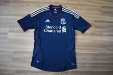 LIVERPOOL FC ENGLAND 2011/2012 AWAY SHIRT BLACK SIZE ADULT S SMALL ADIDAS
