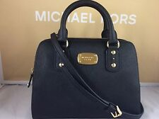 NWT Authentic Michael Kors Black Saffiano Leather Small Satchel Bag Purse Tote