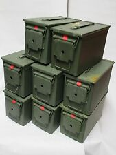 Army AMMO Tin X8 Units (Olive Green) Camping/Festival/Travel/Tool Kit/Storage