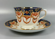 ROYAL ALBERT PATTERN NUMBER 4250 (IMARI STYLE) TEA CUP AND SAUCER (PERFECT)