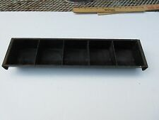 *Vintage* Metal Coin Tray Insert Drawer Money Till Cash Change Drawer Good Cond.