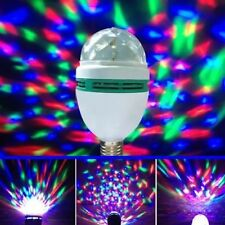 E27 RGB Bulb Crystal Ball Rotating LED Stage Lighting DJ Disco Party Xmas Lamp