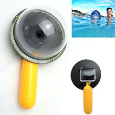 Underwater Waterproof Diving Camera Lens Dome Port + Hand Grip for GoPro 4 3+ 3