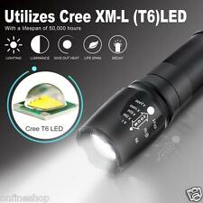 G700 X800 Zoomable XML T6 LED Tactical Flashlight+18650 Battery+Charger+Case