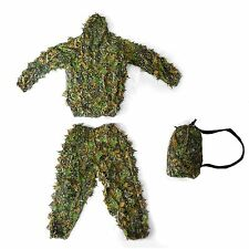 3D Bionic Woodland Camouflage Yowie Ghillie Suit for Sniper CS Games Hunting
