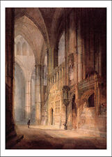 "Joseph Mallord William Turner: St. Erasmus Westminster Abbey, 19x13"" Poster"