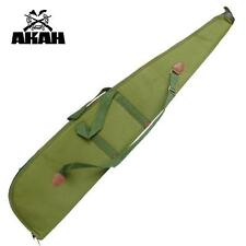 AKAH RIFLE CASE GUN SLIP BAG GREEN PADDED SHOOTING CANVAS STRAP CASE LINED UK