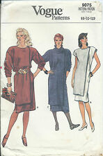 Vogue 9075 sewing pattern CHEMISE DRESS sew cap or long sleeves misses' 8-10-12