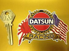 DATSUN USA & Japanese Flags & Scroll style car sticker