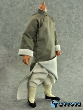 ZY Toys 1/6 Scale Kungfu Dress (with Collar) Yip Man Robe Costume (Grey)