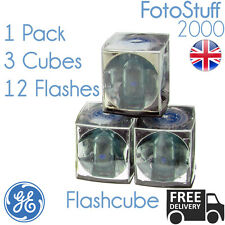 Flashcube Ge 42409 Vintage estándar Flashcube | 1 Pack De 3 Cubos Para 12 Flashes