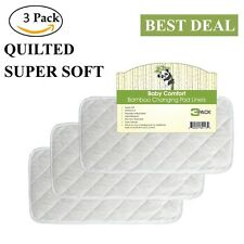 Superior Quality Quilted Bamboo Changing Pad Liners, Reusable, Waterproof