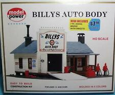 HO Scale-Model Power-414-Billy's Auto Body Model Building Kit-Molded in 5 Colors