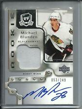 Michael Blunden 06/07 The Cup Autograph Game Used Jersey Rookie #053/249