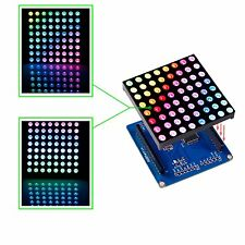 SunFounder Full Color RGB LED Matrix Driver Shield+RGB Matrix Screen for Arduino