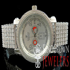 White Gold Finish Mens Iced Joe Rodeo Jojo Jojino Genuine Diamond Custom Watch