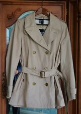Authentic Burberry Brit Trench Coat Jacket Women's US Size 10