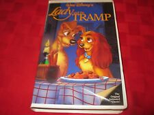 Lady and the Tramp Walt Disney Black Diamond VHS Red Signature 1st Issue!