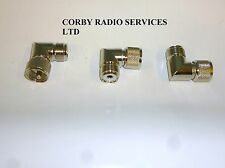 PL259 RIGHT ANGLE CONNECTOR TO SO259 MARINE 2 WAY RADIO RF TAXI CB ON ICOM HYT
