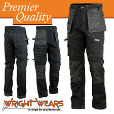 Men Work Cargo Trouser Black Pro Heavy Duty Multi Pockets W:34 L:31 like Dewalt